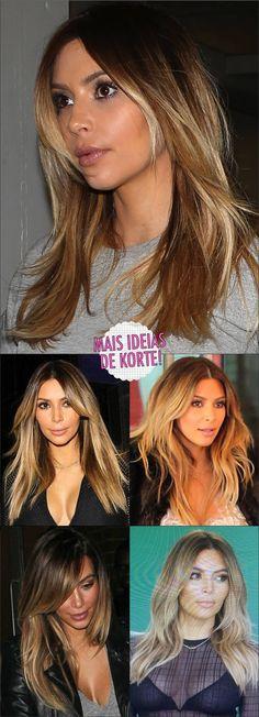 She is stupid but loves this color Pinner O korte de kabelo da Kim Kardashian Image Size 290 x 801 B Dark Brunette Hair, Brown Blonde Hair, Bronde Hair, Balayage Hair, African Braids Hairstyles, Cool Hairstyles, Kim Kardashian Cabelo, Braids Blonde, Kim Hair
