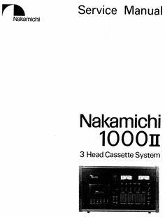 nakamichi 550 original service manual rh pinterest com Vintage Nakamichi Stereos Vintage Nakamichi Stereos