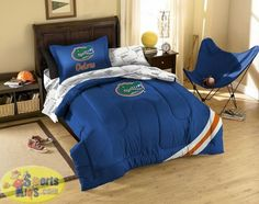 Full Queen Twin//XL Sizes NCAA Florida Gators College Alumni Bedding Set