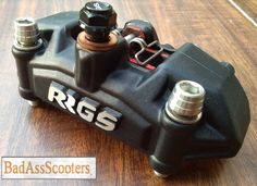 The RRGS is a fully forged 4 piston caliper 22 / pistons. RRGS caliper bracket included (black or raw silver) for use with RRGS and NCY fr Honda Ruckus Parts, Black, Black People