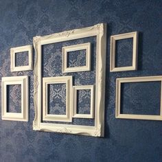 Painted wallpaper with painted frames