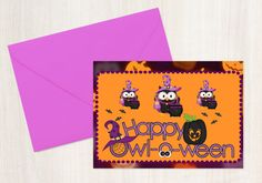 Printable Halloween Card  Instant Download by PixelPixieDesign
