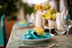 Elegant Wedding Table Setting at Trump Waikiki