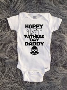First Fathers Day, Happy First Fathers Day, Star Wars, Fathers Day Baby Shirt, New Baby, Baby and Toddler Shirt, Fathers Day Kids Shirt by KyCaliDesign on Etsy