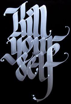 calligraffiti, kill your self