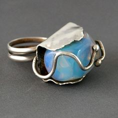 30+ silver rings with beautiful stones