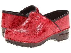 NEW Women's Dansko Pro XP Leather Clog Shoes Red Moray Sz 40