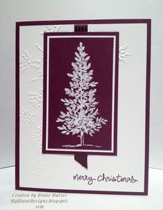 I needed a quick Christmas Card for a wonderful friend (of my Mom's) who sent me a Christmas card for the first time. She has been a gr...