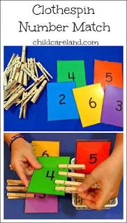 I made this for our math center . it's also great for fine motor development. by dorthy Clothespin Number Match . I made this for our math center . it's also great for fine motor development. by dorthy Toddler Learning, Preschool Learning, Kindergarten Math, Early Learning, Learning Activities, Preschool Activities, Number Activities, Preschool Centers, Children Activities