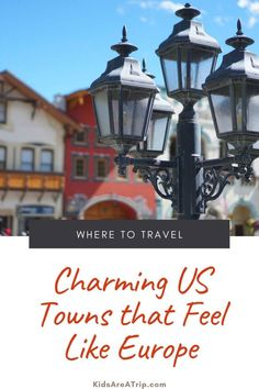 If you are missing travel to Europe like we are, it's easy to find a European city in America. These cities across the country have all the charm of Europe, and most make for the perfect road trip. So pack a bag and pretend you're in Europe. We promise it won't be hard. - Kids Are A Trip |Europe in America| European cities| US towns that feel like Europe| charming small town|