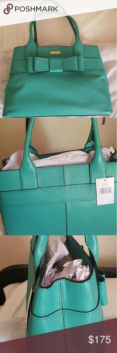 Kate Spade hand bag, lovely teal bow tie kate spade Bags Shoulder Bags