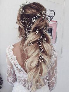 Ulyana Aster Long Wedding Hairstyles & Wedding Updos / http://www.deerpearlflowers.com/romantic-bridal-wedding-hairstyles/5/ #weddinghairstyles