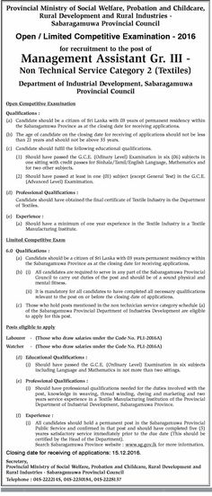 Management Assistant at Sri Lanka Tourism Promotion Bureau - director of development job description