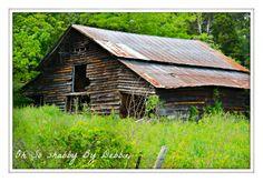 Old barn in Gadsden, Alabama