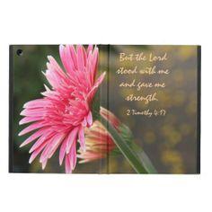 Pretty Gerbera Daisy on iPad Air Case, with Bible Verse