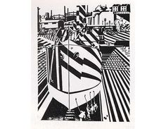 Visual Telling of Stories - Concealment, Camouflage, Dazzle Painting, Edward Wadsworth Dazzle Camouflage, Razzle Dazzle, Wood Engraving, Grafik Design, Limited Edition Prints, Op Art, Les Oeuvres, Painting & Drawing, Black And White