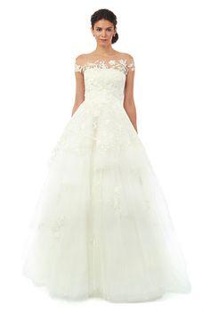 Oscar de la Renta fall 2014 wedding dress