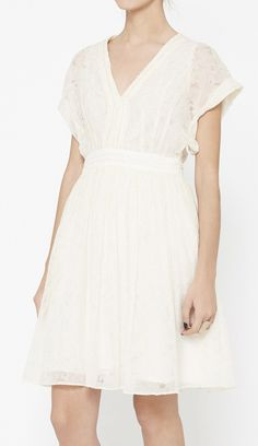 pretty white lace dress