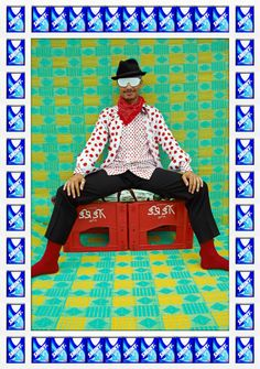 Hassan Hajjaj - Mr J. James | From a unique collection of figurative photography at http://www.1stdibs.com/art/photography/figurative-photography/