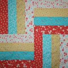 Lovely Rail Fence Quilt Table Topper Pattern   FaveQuilts.com