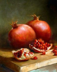 Choose your favorite fruit still life paintings from millions of available designs. All fruit still life paintings ship within 48 hours and include a money-back guarantee. Grenade Fruit, Pomegranate Art, Pomegranate Pictures, Fruit Painting, Painting Art, Wine Painting, Japan Painting, Painting Portraits, Painting Furniture