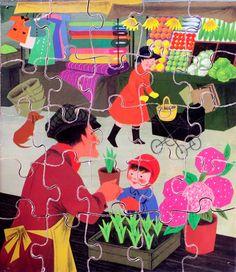 Vintage jigsaw puzzle / UKKONOOA