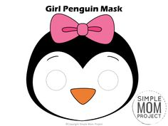 Printable Penguin Mask TemplatesPut those paper plates away! You don't need them for this fun penguin craft. Cutout our free printable penguin mask templates to masquerade around the house with your preschool kids or turn Diy Crafts For Girls, Fun Diy Crafts, Printable Crafts, Printables, Free Printable, Penguin Coloring Pages, Penguin Craft, Mask Template, Thing 1