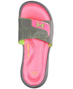 Under Armour Women's Ignite VI Slide Sandals from Finish Line - Finish Line Athletic Shoes - Shoes - Macy's