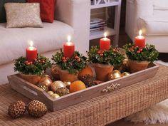 dekoideen weihnachten dekoideen tischdeko kerzen weihnachtskugeln