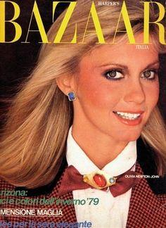Olivia Newton-John Harper's Bazaar Italia cover.