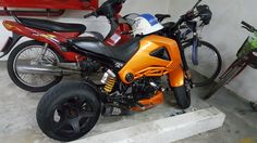 We saw this motorcycle in the car park at our accommodation in Patong