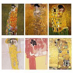 kiss By Gustav Klimt Oil Painting Canvas Wall Art For Living Room Adele Bloch-Bauer& Portrait Paintings Decorative Pictures Canvas Wall Art, Painting Canvas, Abstract Wall Art, Spray Painting, Oil Painting Pictures, Pictures To Paint, Gustav Klimt, Living Room Art, Wall Prints