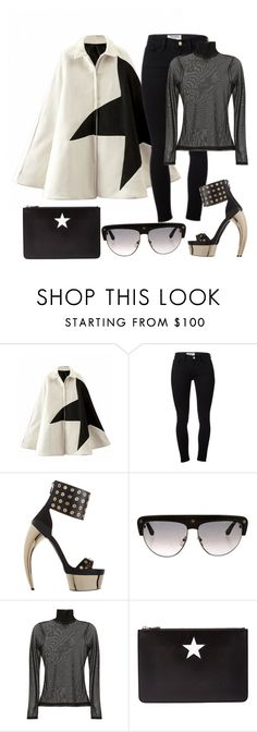 """""""Baby cuz ima star !"""" by sheekshat ❤ liked on Polyvore featuring Frame Denim, Walter Steiger, Tom Ford, Cinq à Sept and Givenchy"""