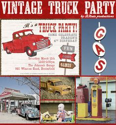 bnute productions: A Vintage Truck Party - Ideas Galore!
