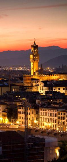 Firenze Twilight Firenze, Ponte Vecchio at sunset