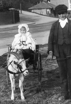 Felixstowe, Goat Cart 1907, from Francis Frith