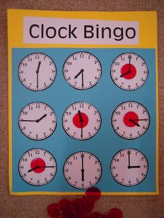 clock bingo...great for teaching time with English learners