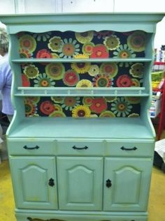 I'm thinking I could use a nice-sized hutch as a pantry in a house that is lacking in space.