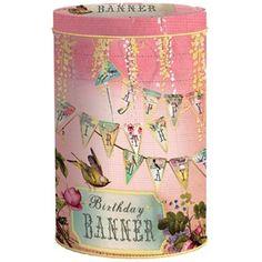 Vlaggenlijn In Blik Happy Birthday - Papaya