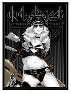 Judas Priest + Motorhead - Alan Hynes                                                                                                                                                                                 Mais