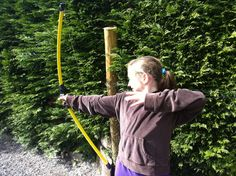 Nice follow-through - one of Glenribbeen's younger archery pupils.