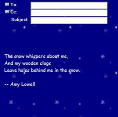 snow free incredimail letter preview and e