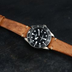 Tudor Pelagos on leather strap Popular Watches, Watches For Men, Tudor Pelagos, Telling Time, Wood Watch, Accessories, Google Search, Sexy, Leather
