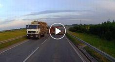 Camião Perde Carga e Quase Atinge Carro Que Vinha Em Sentido Contrário