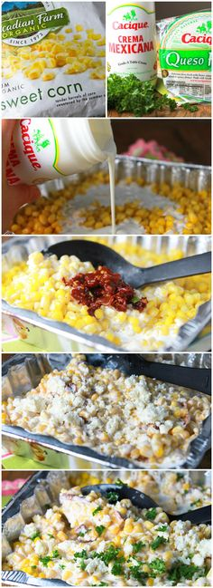 Chipotle Creamed Corn on the Grill I am thinking of adding  pork or chicken to this sound good .