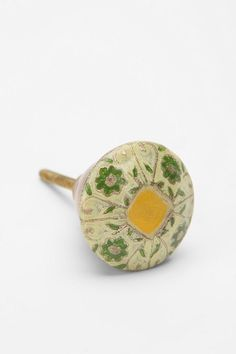 { Yellow Floral Enamel Knob, from Urban Outfitters [$8] }
