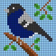 Cross Stitch Bird, Cross Stitch Animals, Cross Stitch Flowers, Cross Stitch Patterns, Hexagon Quilt Pattern, Pixel Pattern, Quilt Patterns, Minecraft Pixel Art, Alpha Patterns