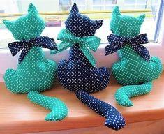 como hacer un molde de gato Ideas de Manualidades cute food diy garten witzig Sewing Toys, Sewing Crafts, Sewing Projects, Craft Projects, Projects To Try, Cat Crafts, Diy And Crafts, Homemade Stuffed Animals, Cat Pillow