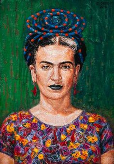 Frida Kahlo Painting by Edward Ofosu - Frida Kahlo Fine Art Prints . Frida Y Diego Rivera, Frida E Diego, Frida Art, Kahlo Paintings, Mexican Artists, Great Artists, Famous Artists, Folk Art, Fine Art Prints