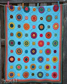 CROCHET PATTERN Hippie Gypsy Blanket a colorful by TheHatandI